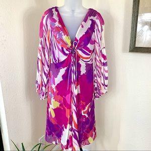 Diane Von Furstenberg SILK Chiffon Dress keyhole